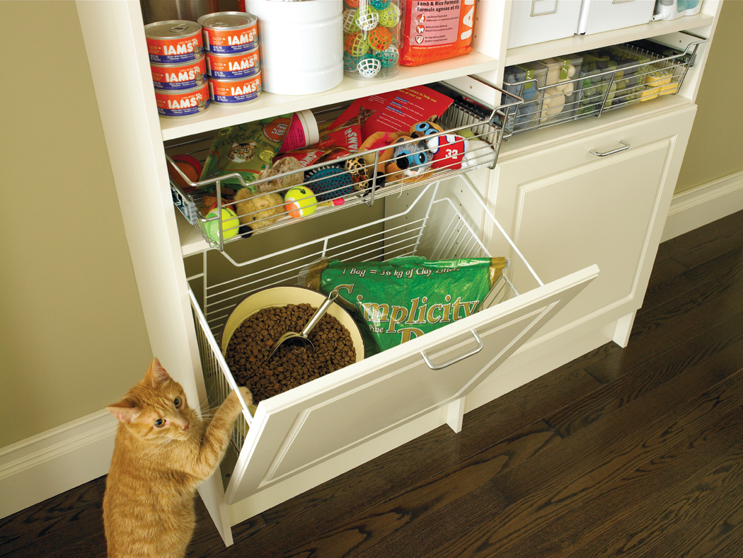 Create an organized pet station in your entryway mudroom laundry