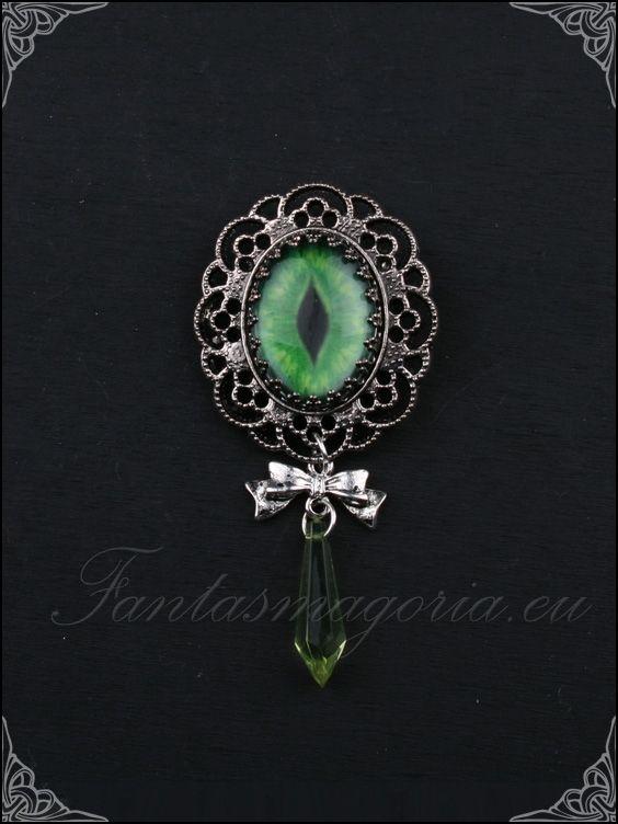 Brošňa Green Dragon Eye