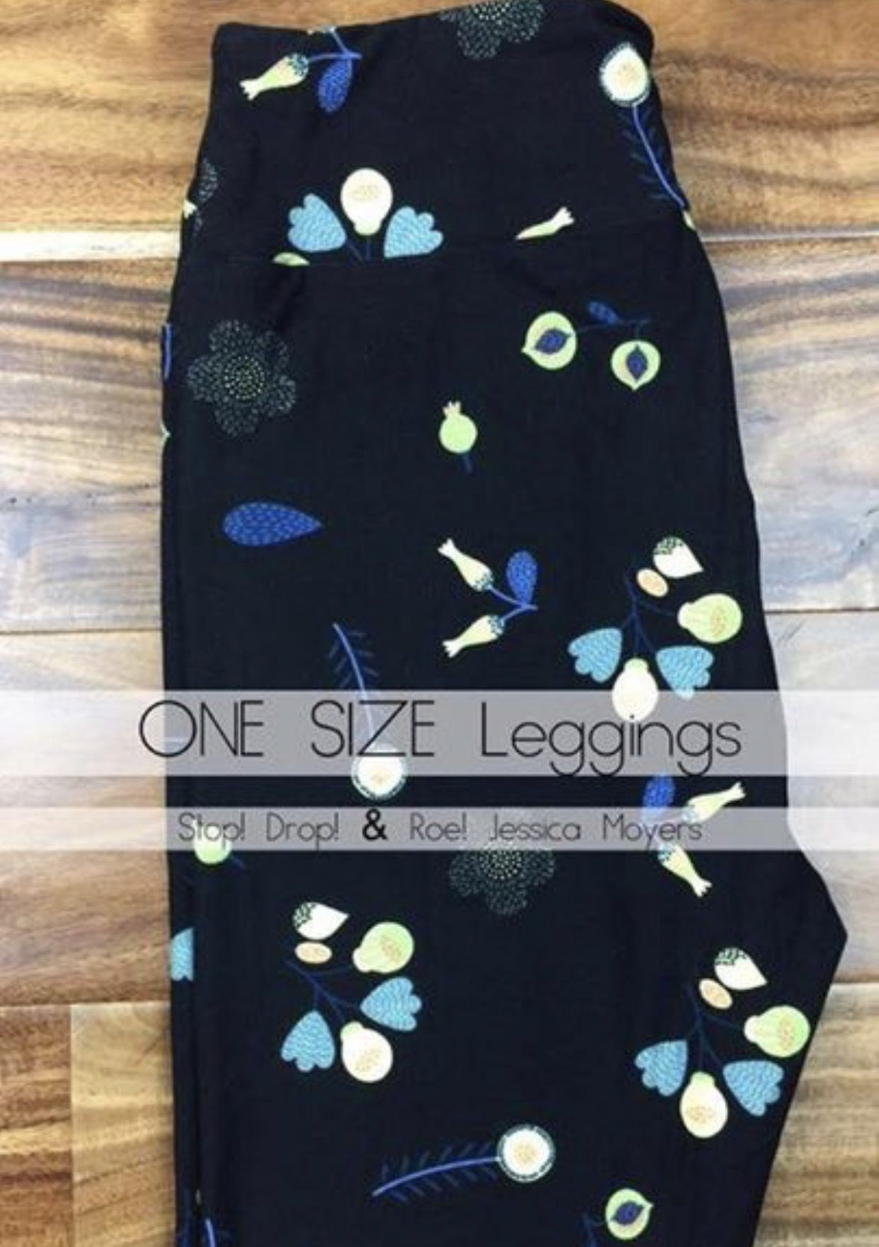 83dd29ea1a43bb Yellow With Light Blue Flowers Lularoe Leggings | Gardening: Flower ...