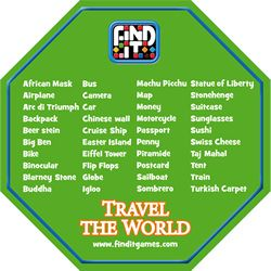 Find It Travel The World Check Off List   Find It Games