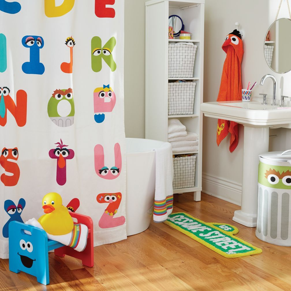 Sesame Street Abc Shower Curtain The Land Of Nod With Images
