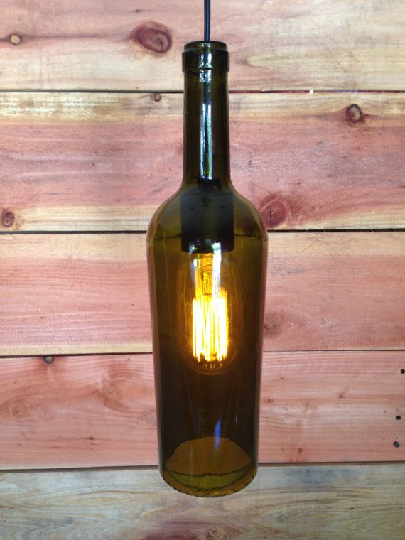 Wine bottle hanging pendant. by WineCountryLights on Etsy