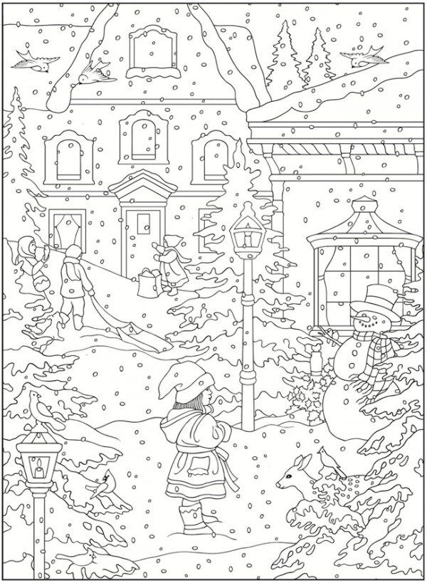Freebie Winter Coloring Pages Coloring pages winter