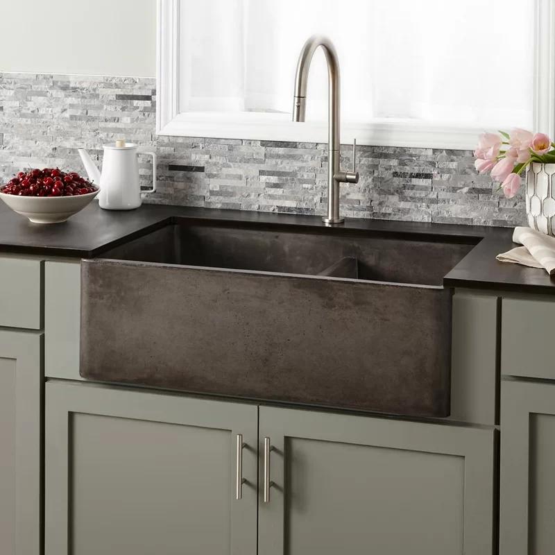 33 L X 21 W Double Basin Farmhouse Kitchen Sink Apron Front Kitchen Sink Best Kitchen Sinks Apron Sink Kitchen