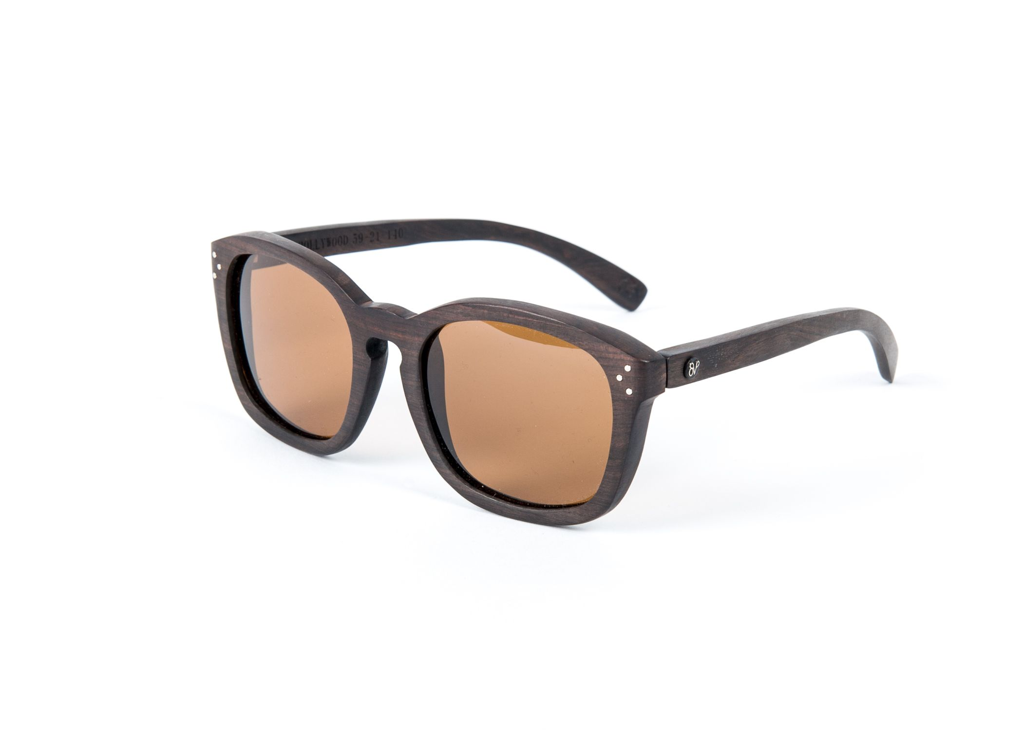 Premier Designs California Capital Airshow: Hollywood, Ebony Wood Polarized Sunglasses. Oversized