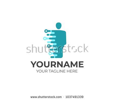 Technology Human Logo Template Artificial Intelligence And Robotics