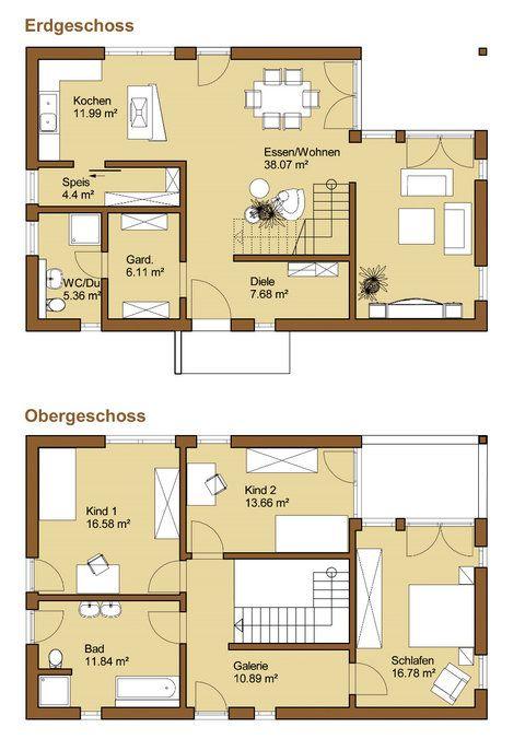 Grundriss Hausbau Pinterest Grundrisse, Hausbau und Häuschen