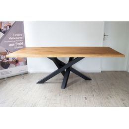 Kreuzgestell Stahl schwarz matt Struktur MI-KADO 80×80 Tischgestell Küchentisch Esstisch Tischuntergestell X-Gestell einteilig