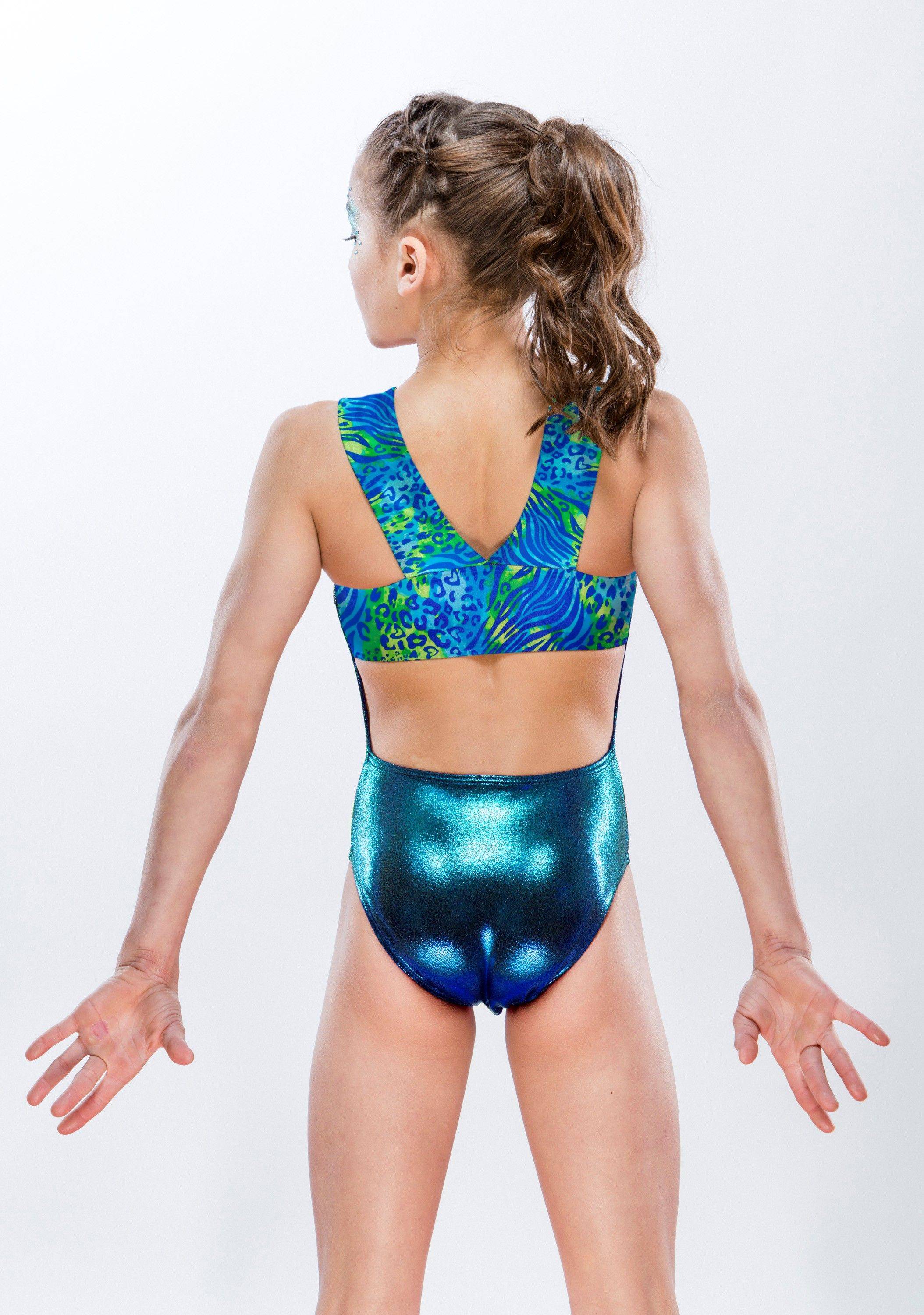 63acb397b ocean leopard girls gymnastics leotard