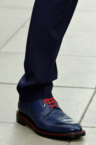 ♂ man s accessories blue shoes with red shoelace Dior Homme S S  13 ... d8a9196400f