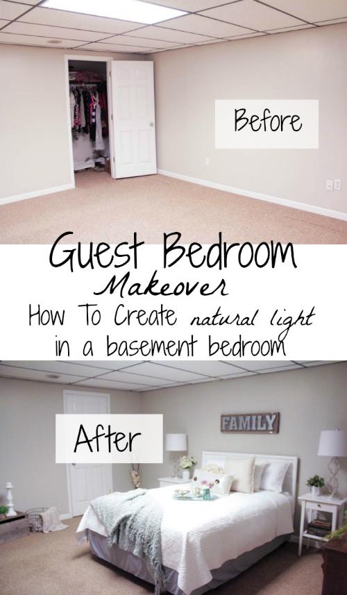 Photo of Guest Room Makeover: So erstellen Sie natürliches Licht in einem Keller Schlafzimmer Tessa Kirby Blog