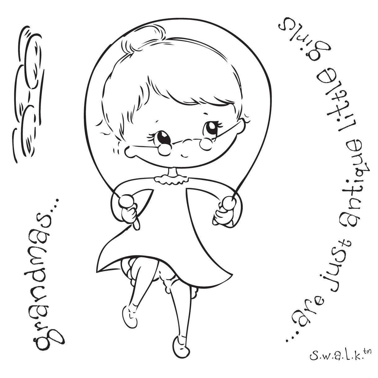 S W A L K Swalk Crafter S Companion Stamp Grandma