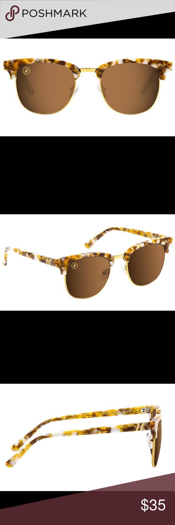 """3e81addcb242c BLENDERS Eyewear """"Gold Mamba"""" Polarized Sunglasses DETAILS - Handmade  Metallic Acetate - Polarized Amber"""