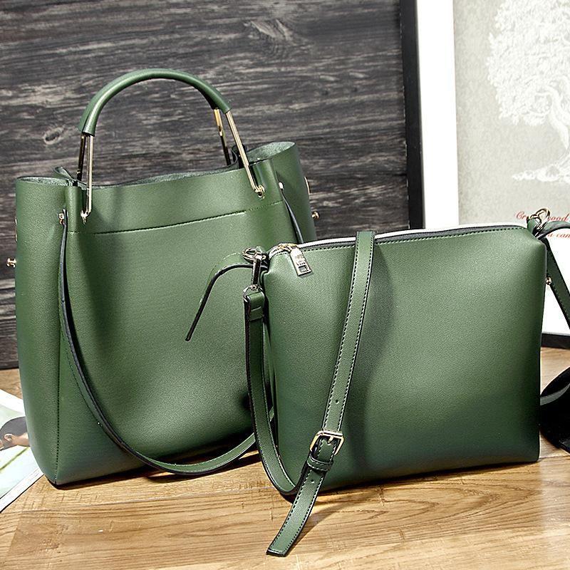 c4a83083e27f Genuine leather vintage women handbag shoulder bag crossbody bag tote –  Evergiftz