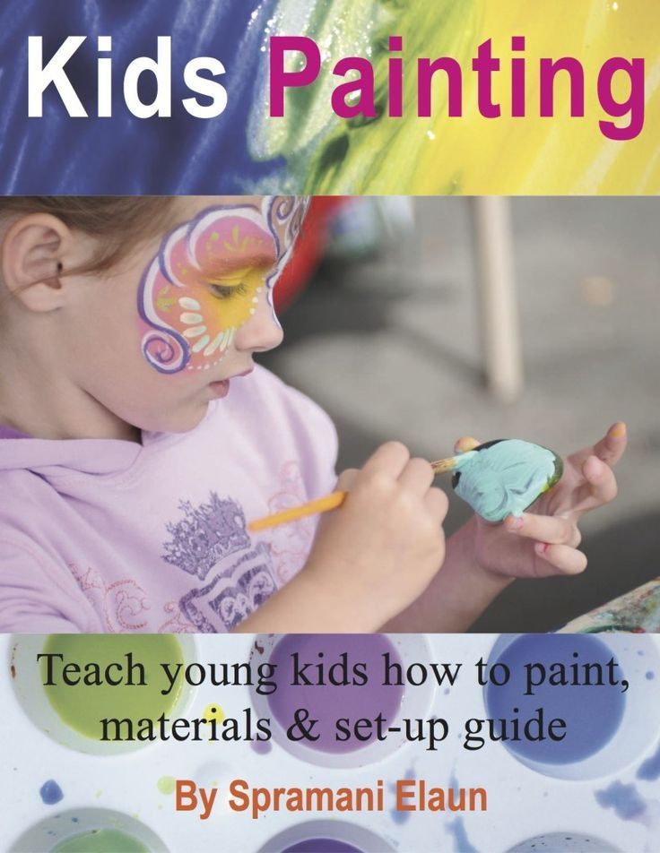 Kids Painting ebook Paperback author Spramani Elaun Teaching art