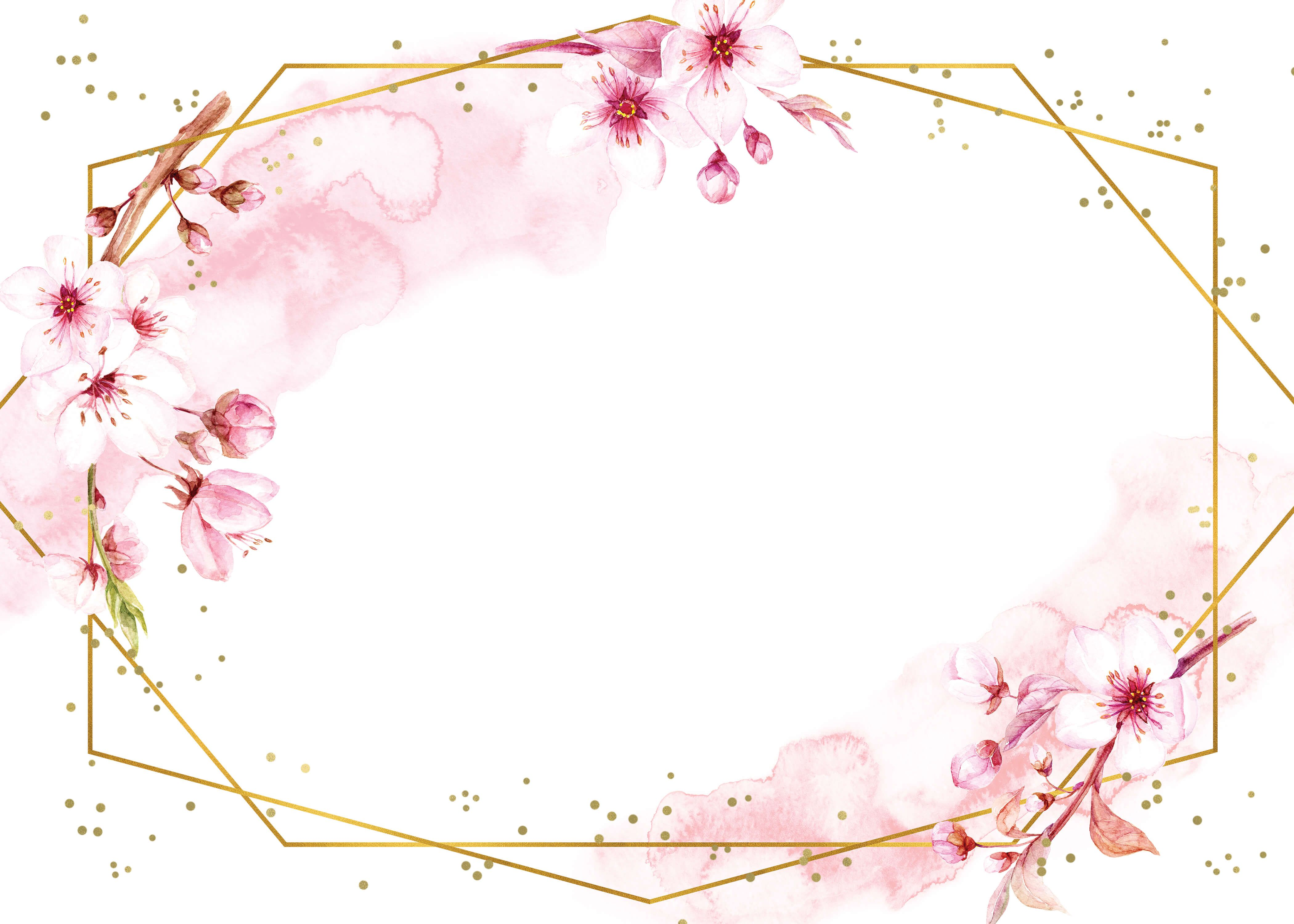 Floral Sakura Rsvp Card Template Free Greetings Island Flower Graphic Design Floral Poster Flower Graphic
