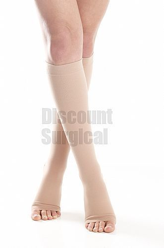 9c8841de57ee5d Surgical Opaque Knee-Hi Firm 20-30 mmHg Open Toe. Made of a durable ...