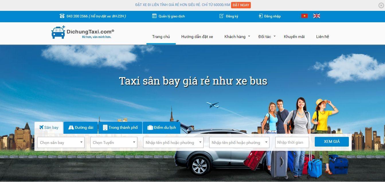 Taxi sân bay giá rẻ như xe bus