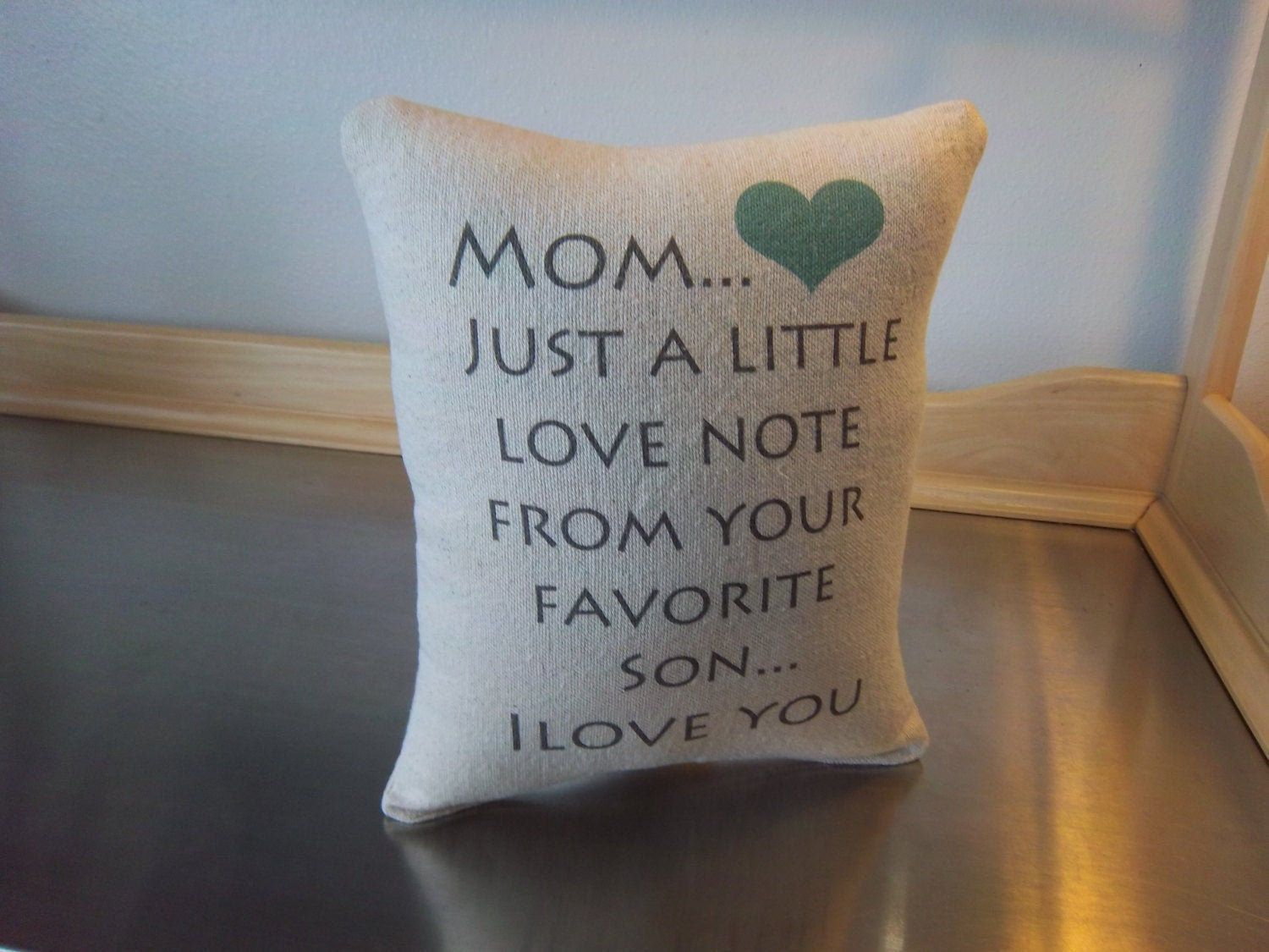 Mom gift from son mother pillow mama birthday etsy mom