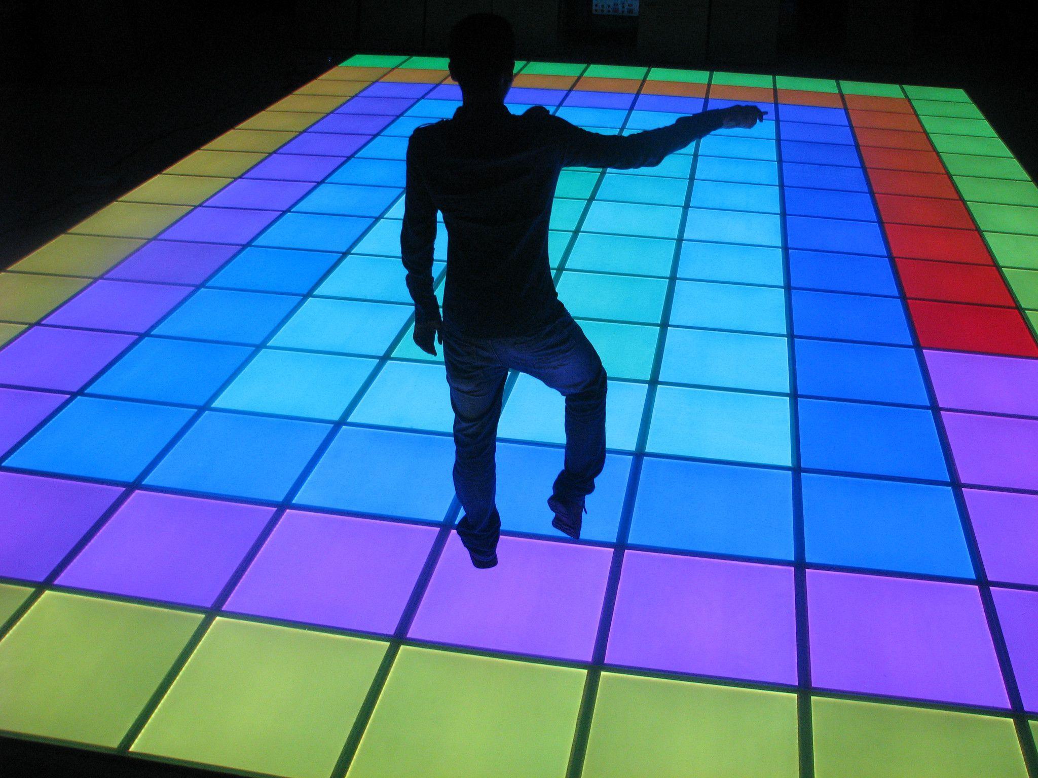 1 2 3 Rgb Full Color Changing Lighting Floor Tiles Panel Led Dance Dance Floor Lighting Flooring