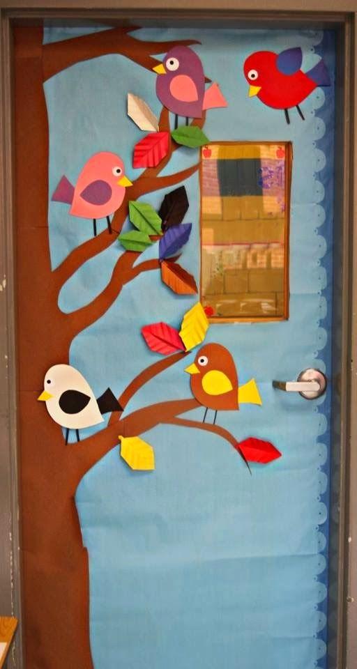 Falando da educa o ideias de portas decoradas para sala for Puertas escolares decoradas