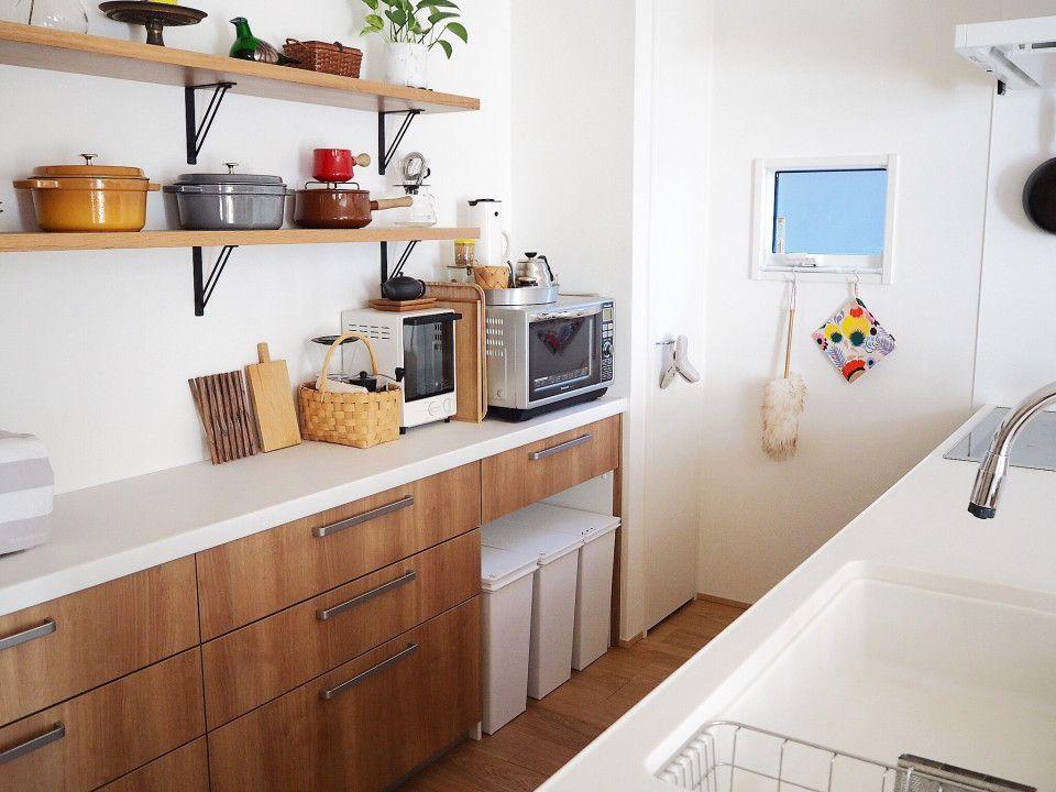 自分色の彩りあるキッチンと特別な空間づくり Taka0taka0taka0さんのキッチンを探索 北欧 造作 Panasonic パナソニック ラクシーナ ムクリ Mukuri リビング キッチン キッチン 造作キッチン