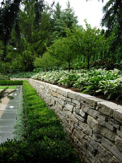 Great Article On Dry Stacked Stone In Your Landscape Stone Landscaping Garden Wall Traditional Landscape