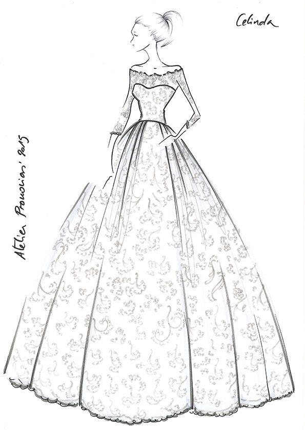 Celinda Atelier Pronovias 2015 Dessin Stylisme Dessin De Mode Mode