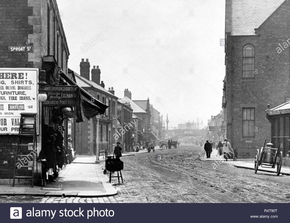 Regent Street, Blyth Northumberland early 1900's Stock Photo