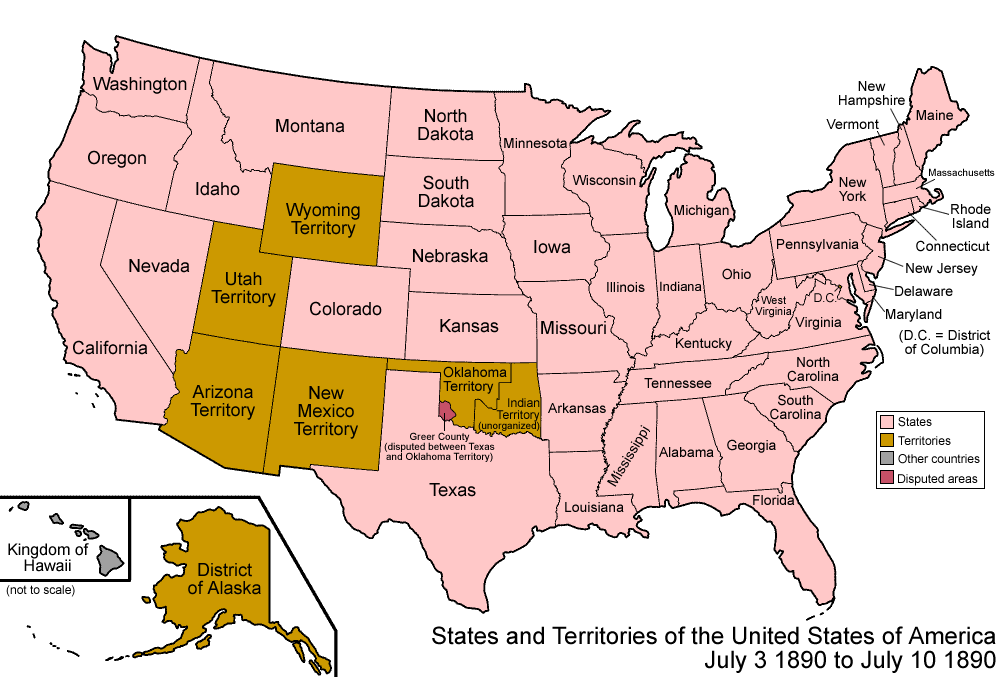 US Map In Showing Development Of Statehood American - Map of the us before westward expansion