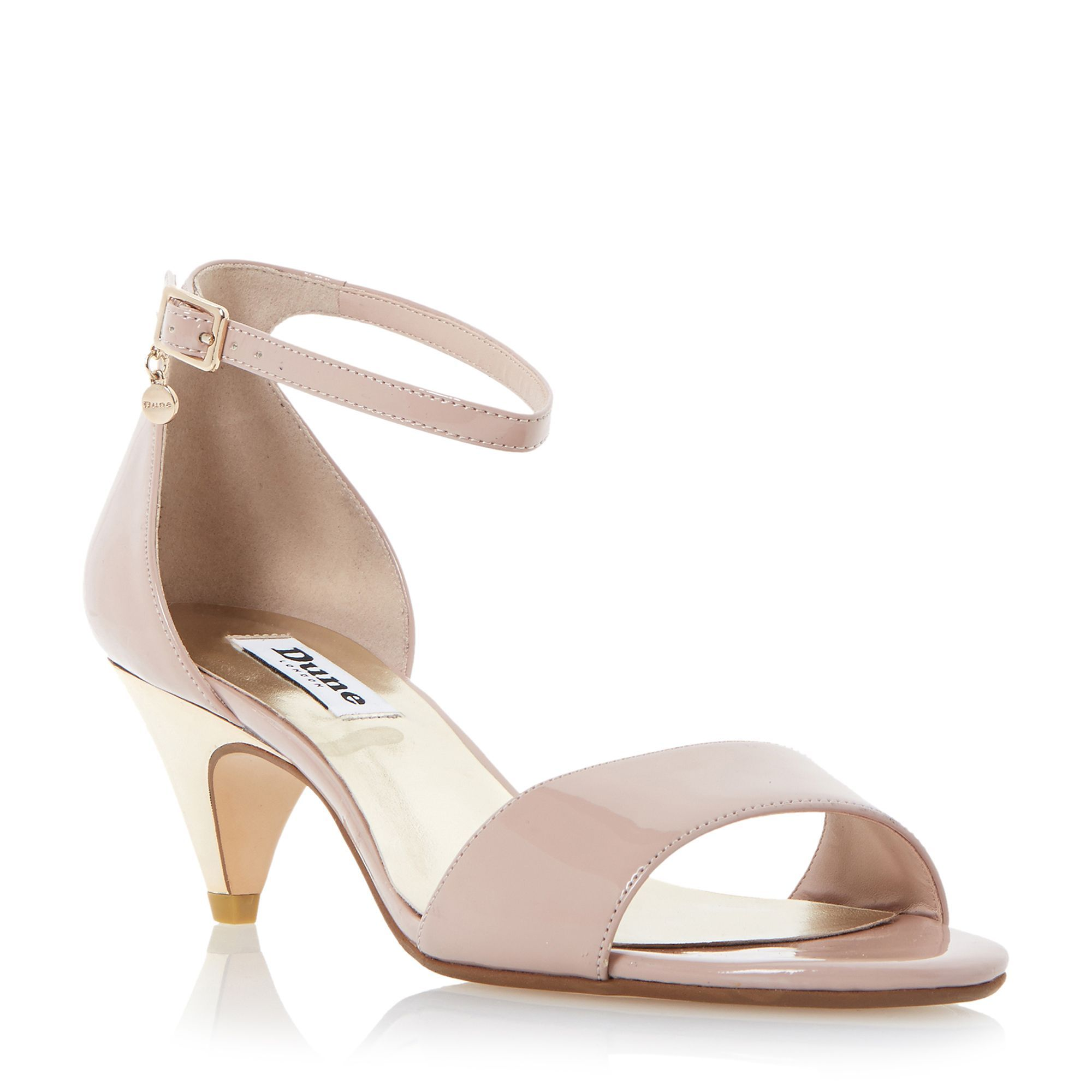 Dune Marina two part kitten heel sandals, Blush | Jess Wedding ...