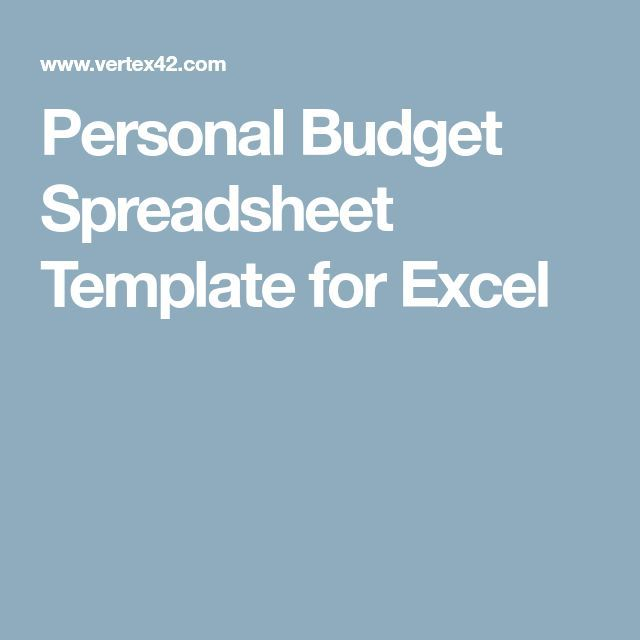 Personal Budget Spreadsheet Template for Excel - Tap the link to - Free Online Spreadsheet Templates
