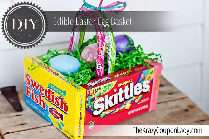 Diy edible easter egg basket easter baskets easter and super easy diy edible easter egg basket negle Images