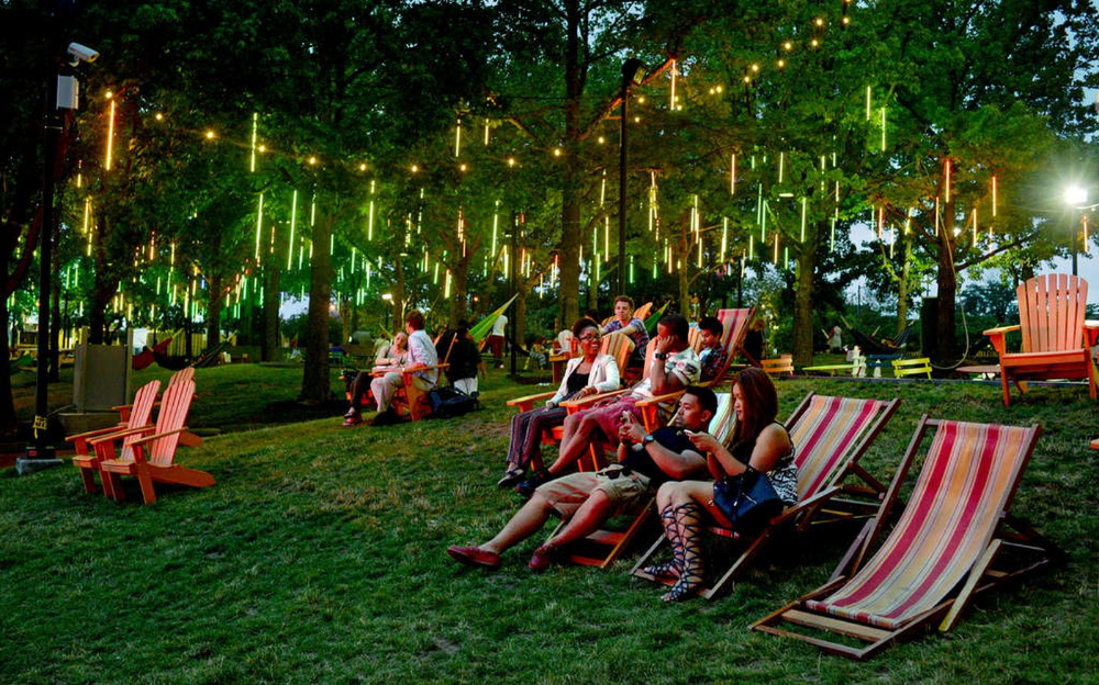 Here S The Summer Schedule For Cherry Street Pier Spruce Street Harbor Park Penn S Landing And More Harbor Park Beer Garden Diy Outdoor Bar