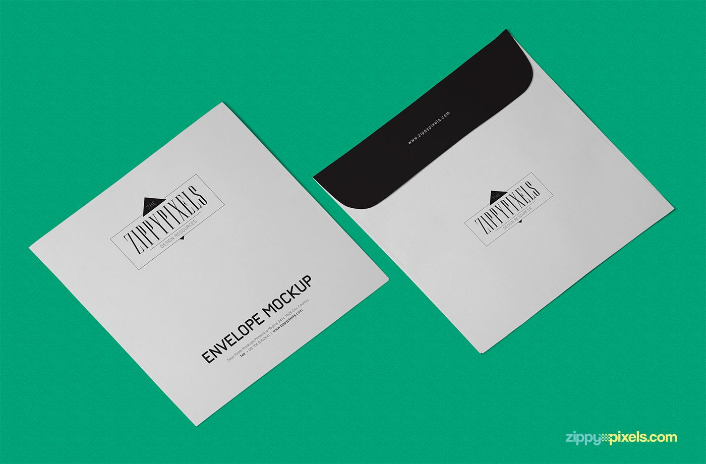 Free Envelope Mockup PSD In Isometric View on Behance   mockup ...