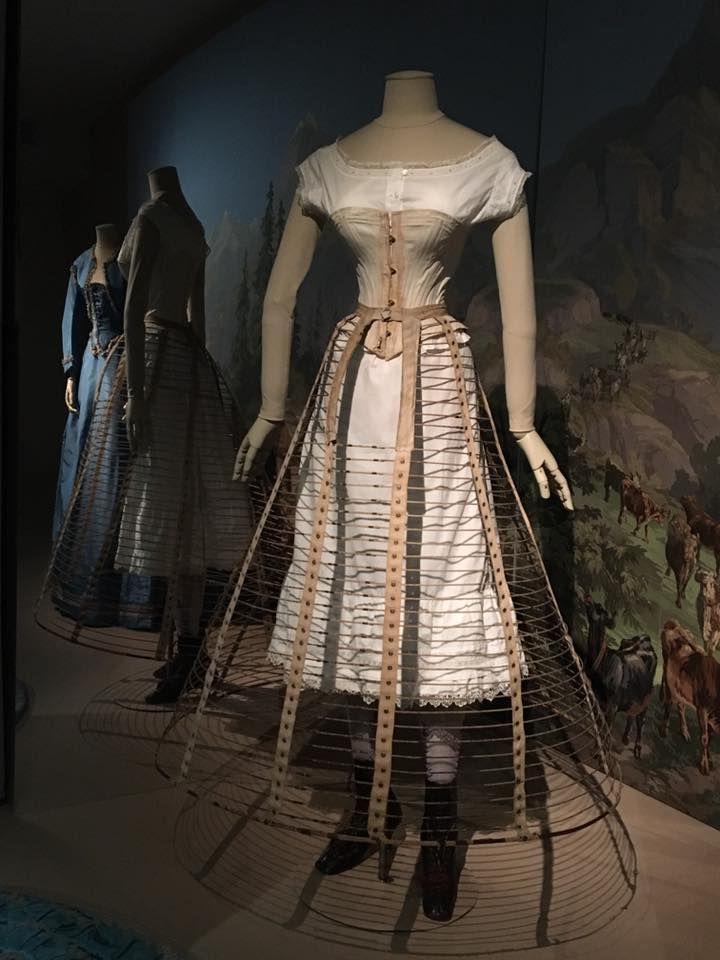 Ca.mid-1860s corset and crinoline (petticoat and chemise look ...