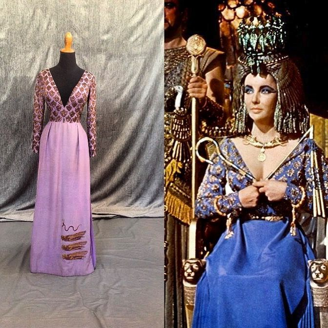 Film Cleopatra 1963 Costume Worn By Liz Taylor