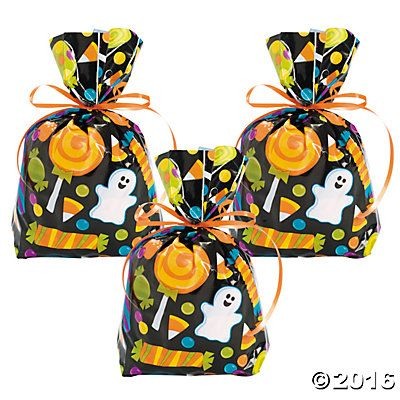 Cellophane Halloween Treat Bags for trick or treaters!