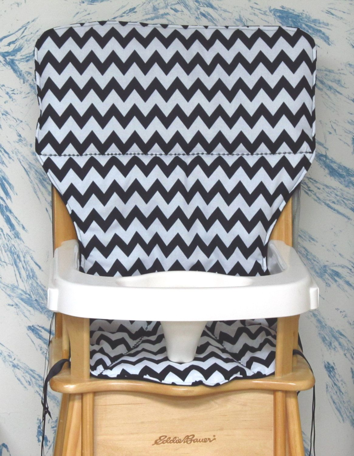 Jenny Lind High Chair White Minnie Mouse Eddie Bauer Replacement Cover Black