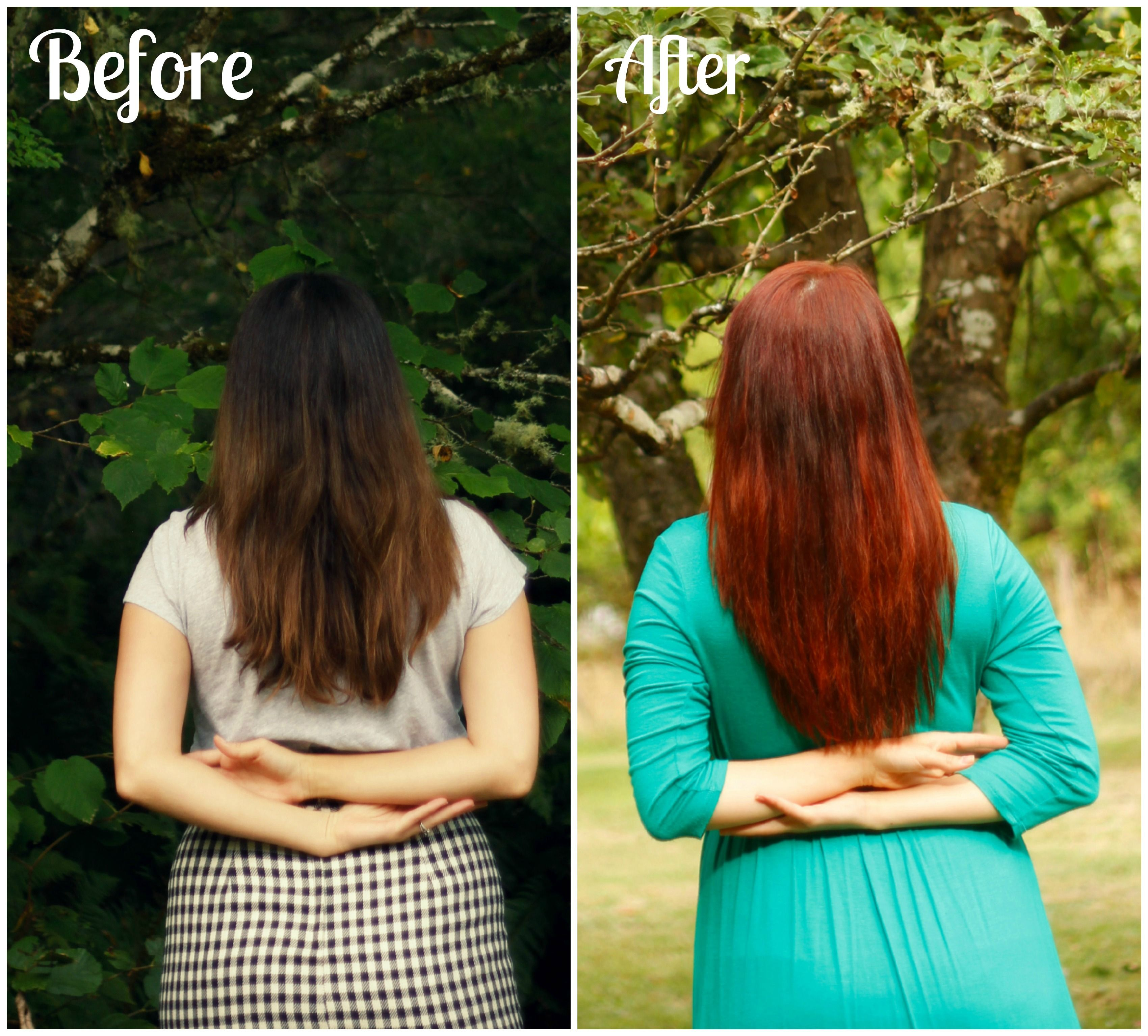 How to dye dark brown hair red without pre-bleaching   www ...