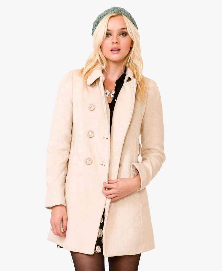 Images of Beige Pea Coat - Reikian