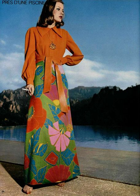 flowers and orange #70sfashion