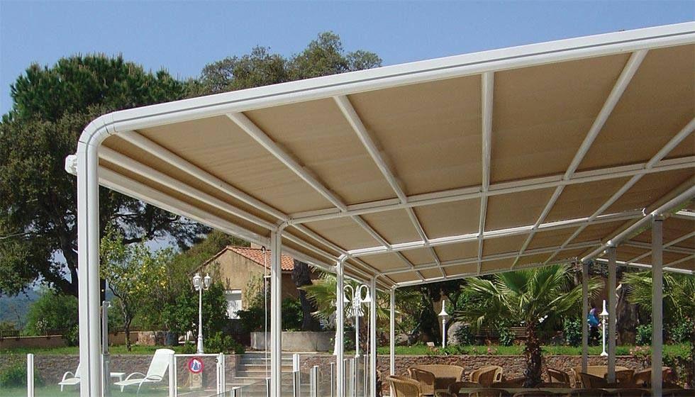 Garden Struttura a scorrimento superiore per coperture di terrazzi e ...