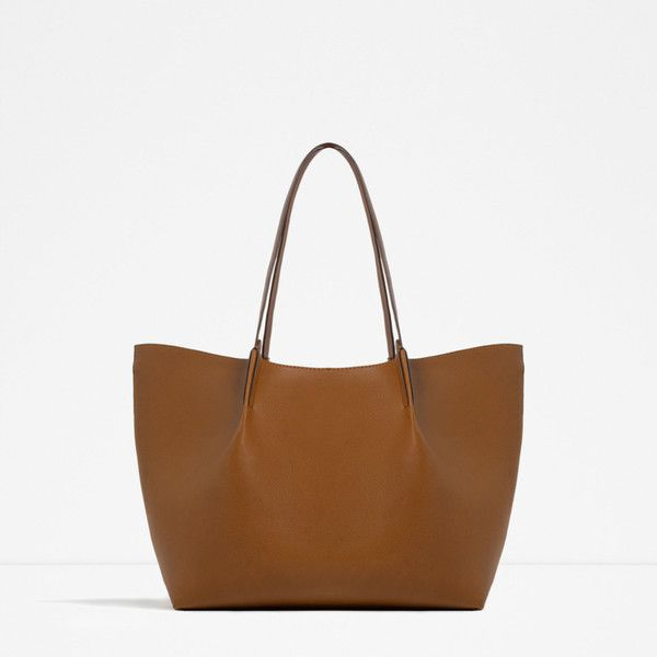 Zara Pleated Tote 40 Liked On Polyvore Featuring Bags Handbags