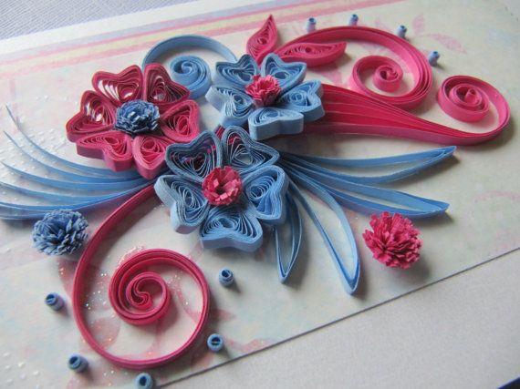 Birthday greeting card mother s day card handmade by rudibelart