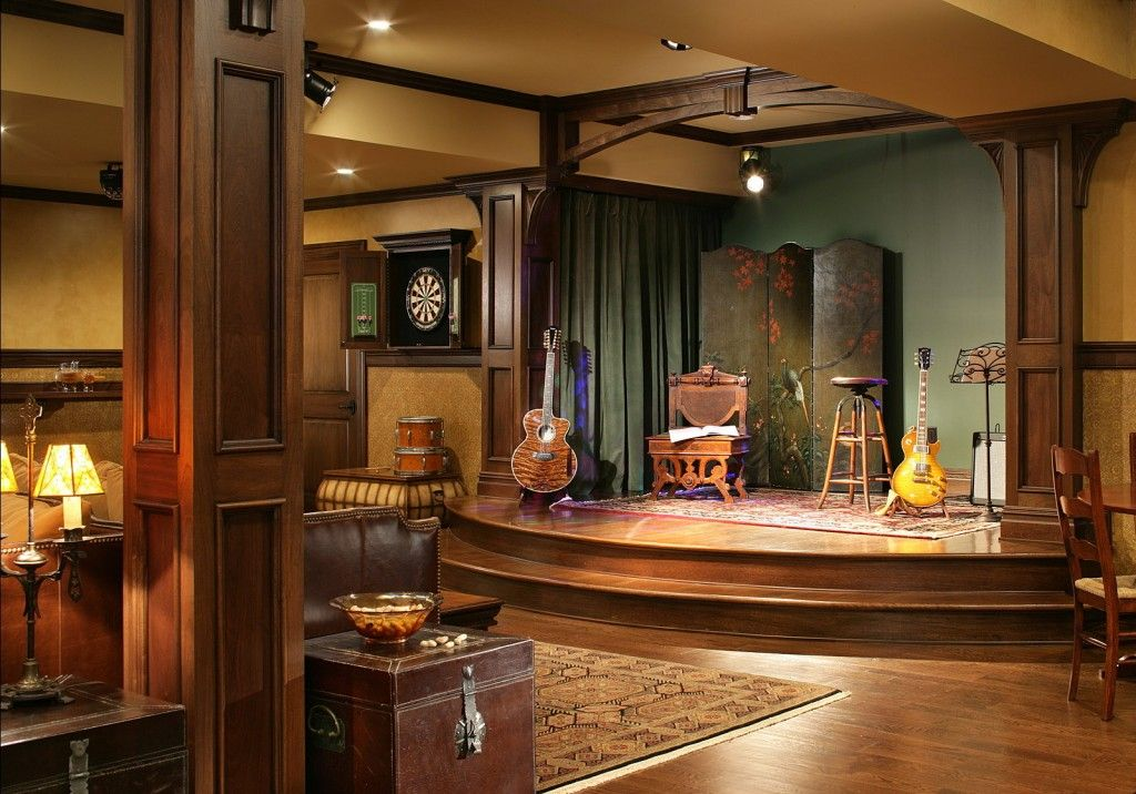 Get Down With The 9 Best Basements Ever Music Room Design Home Music Rooms Music Room