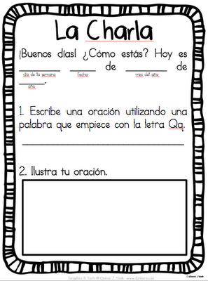 La charla morning message in spanish school pinterest la charla morning message in spanish m4hsunfo Gallery