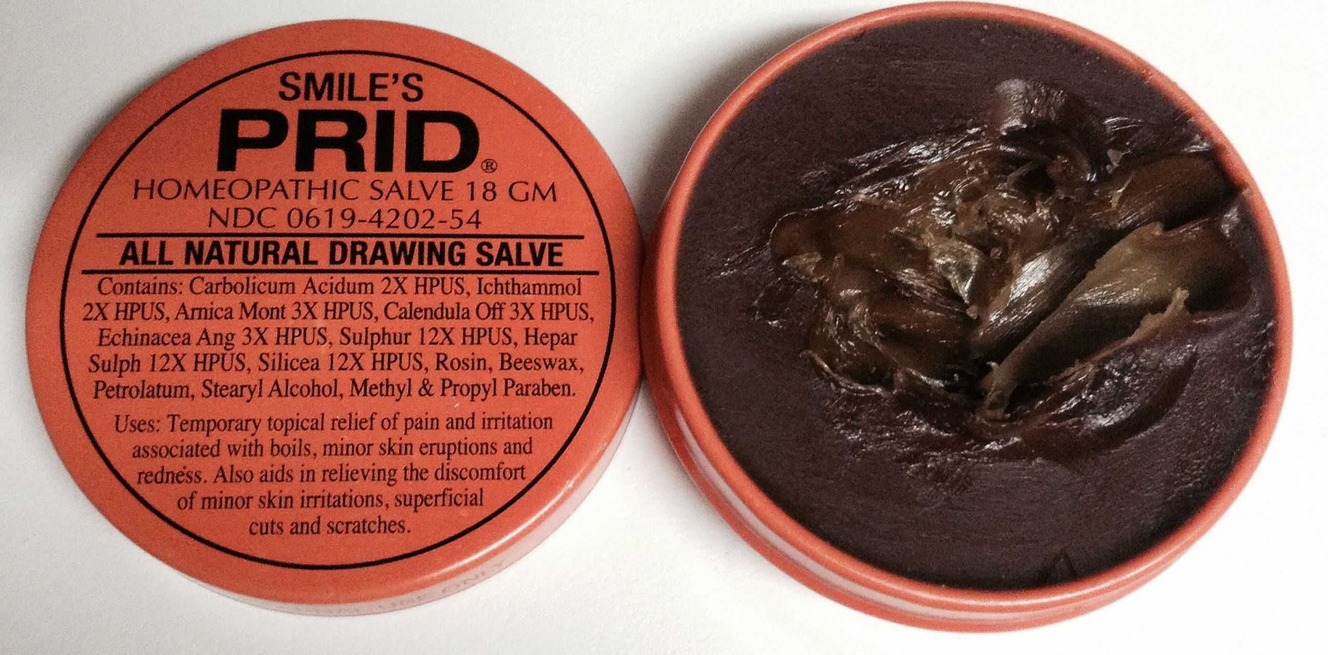 SMILE'S PRID all natural drawing salve  This stuff does't