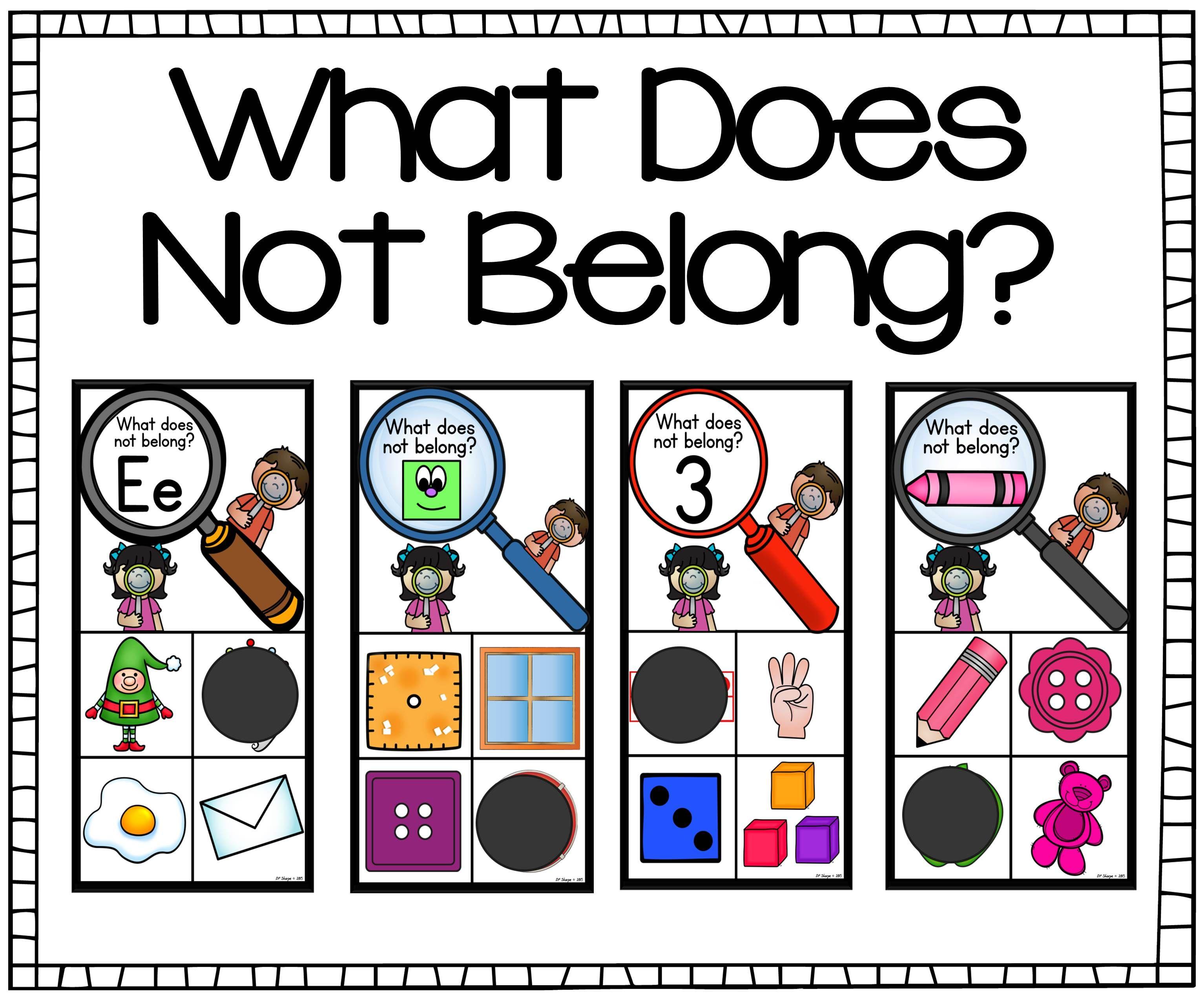 What Doesn T Belong Card Set Bundle