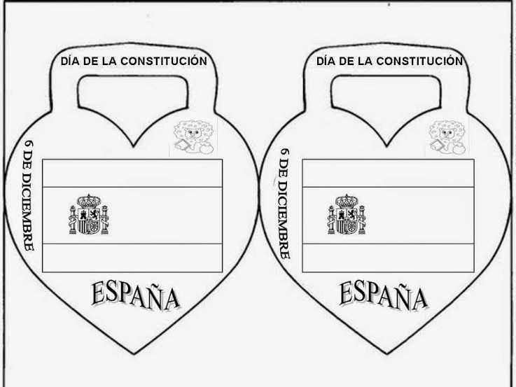 Banderas De Espana Y Cc Aa Para Pintar Dia De La Constitucion